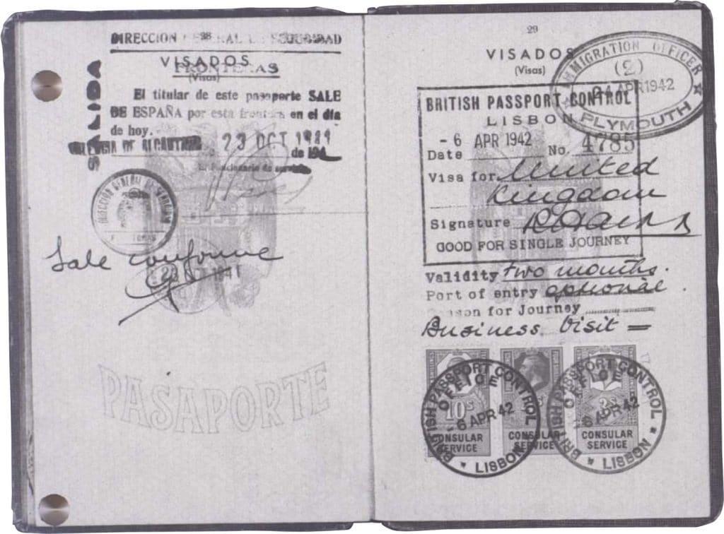 Entrada a Inglaterra el 6 de abril de 1942.