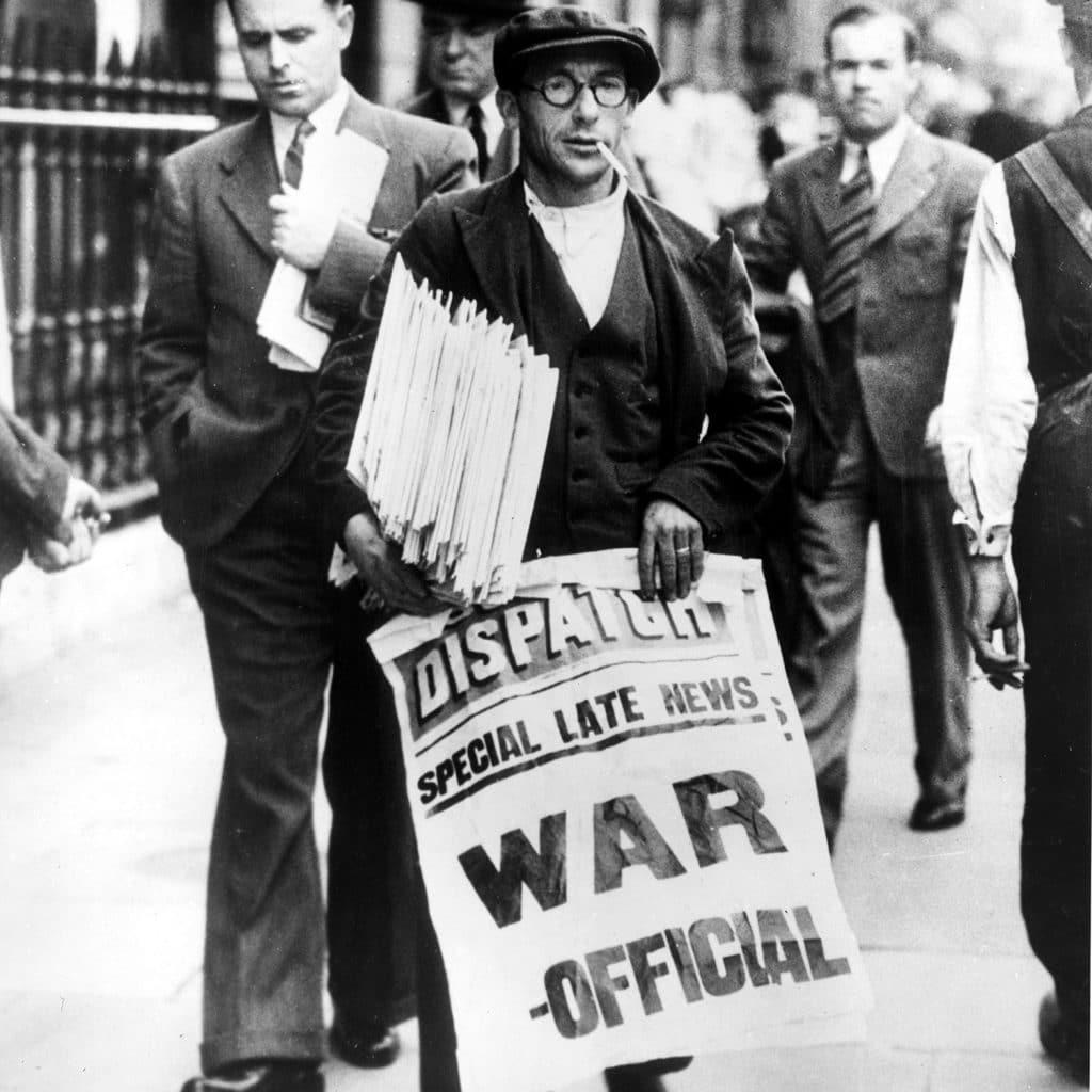 Periódicos anuncian guerra